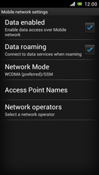Sony Xperia J - Internet and data roaming - Disabling data roaming - Step 6