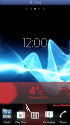 Sony Xperia S - Getting started - Installing widgets and applications on your start screen - Step 8
