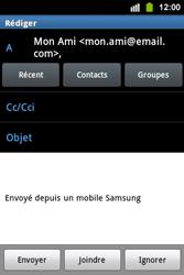 Samsung S5830i Galaxy Ace i - E-mail - envoyer un e-mail - Étape 7