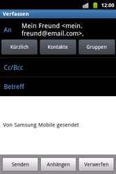 Samsung Galaxy Xcover - E-Mail - E-Mail versenden - 7 / 14