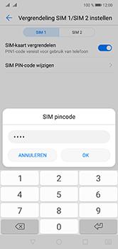 Huawei P20 Lite Dual-SIM (Model ANE-LX1) - Beveiliging en ouderlijk toezicht - Hoe wijzig ik mijn SIM PIN-code - Stap 11