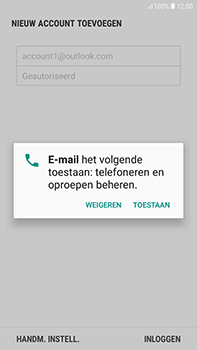 Samsung Galaxy J4 - E-mail - handmatig instellen (outlook) - Stap 11