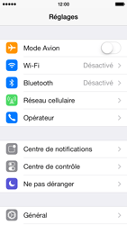 Apple iPhone 5s - Internet et roaming de données - Comment vérifier que la connexion des données est activée - Étape 3