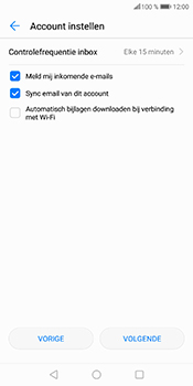 Huawei P Smart - E-mail - Handmatig instellen (outlook) - Stap 8
