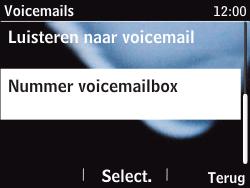 Nokia Asha 201 - Voicemail - handmatig instellen - Stap 7