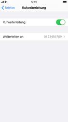 Apple iPhone 8 - iOS 13 - Anrufe - Rufumleitungen setzen und löschen - Schritt 8