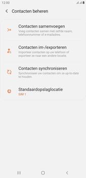 Samsung galaxy-j4-plus-dual-sim-sm-j415fn-android-pie - Contacten en data - Contacten kopiëren van toestel naar SIM - Stap 6