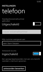 Nokia Lumia 630 - Voicemail - Handmatig instellen - Stap 6