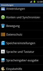 Samsung Galaxy S Advance - Gerät - Zurücksetzen auf die Werkseinstellungen - Schritt 4