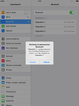 Apple iPad mini iOS 7 - Bluetooth - Collegamento dei dispositivi - Fase 8