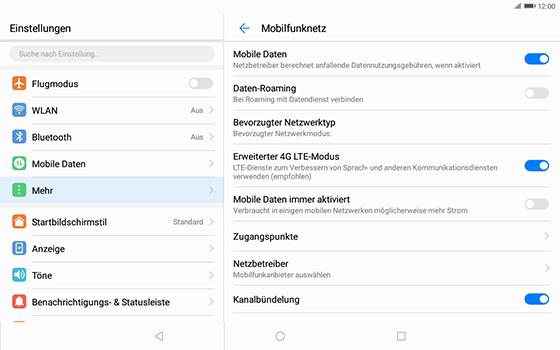 Huawei MediaPad T3 (10.0) LTE - MMS - Manuelle Konfiguration - Schritt 7