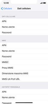 Apple iPhone X - iOS 12 - Internet e roaming dati - Configurazione manuale - Fase 7