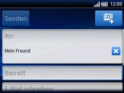 Sony Ericsson Xperia X10 Mini Pro - E-Mail - E-Mail versenden - Schritt 7
