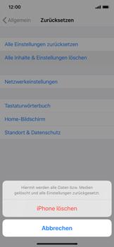 Apple iPhone X - iOS 13 - Fehlerbehebung - Handy zurücksetzen - Schritt 8