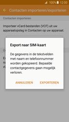 Samsung Galaxy S6 - Contacten en data - Contacten kopiëren van toestel naar SIM - Stap 9