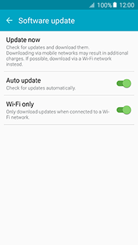 Samsung Galaxy A8 - Software - Installing software updates - Step 7