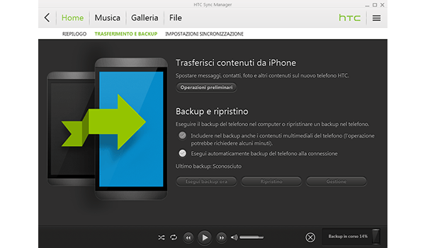 HTC One Mini - Software - Come eseguire un backup del dispositivo - Fase 6