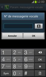 Samsung S7710 Galaxy Xcover 2 - Messagerie vocale - Configuration manuelle - Étape 8
