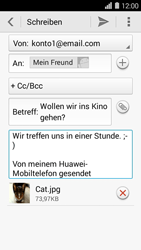 Huawei Ascend Y550 - E-Mail - E-Mail versenden - 1 / 1