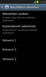 Samsung I8190 Galaxy S III Mini - Netwerk - Handmatig een netwerk selecteren - Stap 7