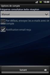 Sony Xperia Mini Pro - E-mail - Configuration manuelle - Étape 9