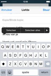 Apple iPhone 4s iOS 8 - E-mail - Bericht met attachment versturen - Stap 9