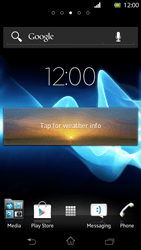 Sony Xperia T - Getting started - Installing widgets and applications on your start screen - Step 7