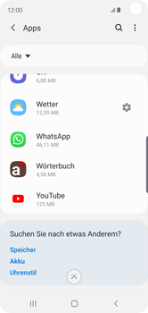 Samsung Galaxy S10e - Apps - Eine App deinstallieren - Schritt 5
