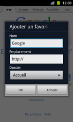 Samsung I8530 Galaxy Beam - Internet - navigation sur Internet - Étape 5