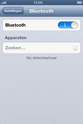 Apple iPhone 4 (iOS 6) - bluetooth - headset, carkit verbinding - stap 5