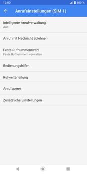 Sony Xperia XZ3 - Anrufe - Rufumleitungen setzen und löschen - Schritt 8