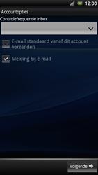 Sony Xperia Ray - E-mail - Handmatig instellen - Stap 9