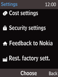 Nokia 225 - Mobile phone - Resetting to factory settings - Step 3