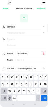 Oppo Find X2 Pro - Contact, Appels, SMS/MMS - Ajouter un contact - Étape 11