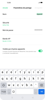 Oppo Find X2 Pro - WiFi - Comment activer un point d'accès WiFi - Étape 7