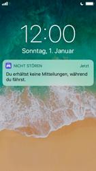 """Apple iPhone SE - iOS 11 - Nicht stören – Sicheres Fahren – """"Do Not Disturb while Driving"""" deaktivieren (für Fahrer) - 3 / 6"""