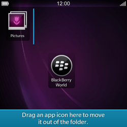 BlackBerry Q10 - Getting started - Personalising your Start screen - Step 10