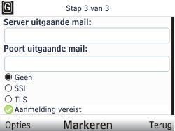 Nokia C3-00 - E-mail - Handmatig instellen - Stap 11