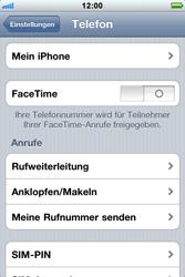 Apple iPhone 3GS - Anrufe - Rufumleitungen setzen und löschen - Schritt 4