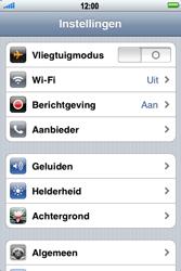 Apple iPhone 4 - Instellingen aanpassen - Fabrieksinstellingen terugzetten - Stap 3