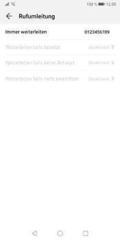 Huawei Mate 10 Pro - Android Pie - Anrufe - Rufumleitungen setzen und löschen - Schritt 8