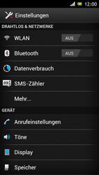 Sony Xperia J - Netzwerk - Netzwerkeinstellungen ändern - 4 / 7