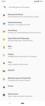 Sony Xperia 5 - Internet und Datenroaming - Prüfen, ob Datenkonnektivität aktiviert ist - Schritt 4