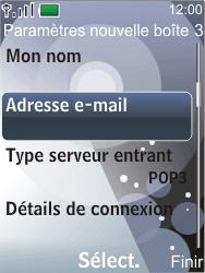 Nokia 7210 supernova - E-mail - configuration manuelle - Étape 14