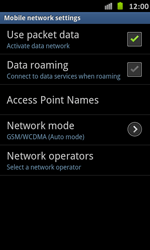 Samsung Galaxy S Advance - Internet and data roaming - Disabling data roaming - Step 7
