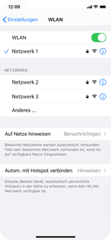 Apple iPhone X - iOS 14 - WiFi - WiFi-Konfiguration - Schritt 7