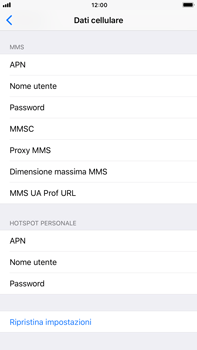 Apple iPhone 6s Plus iOS 11 - MMS - Configurazione manuale - Fase 8
