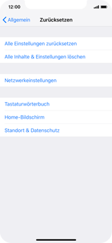 Apple iPhone XS - Fehlerbehebung - Handy zurücksetzen - Schritt 7
