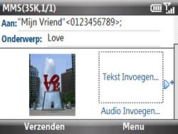 HTC S521 Snap - MMS - Afbeeldingen verzenden - Stap 11