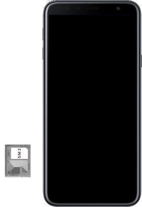 Samsung Galaxy J4 Plus - Toestel - Simkaart plaatsen - Stap 8